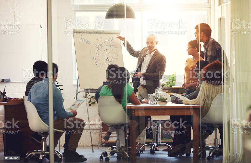 Their combined vision will lead to success stock photo