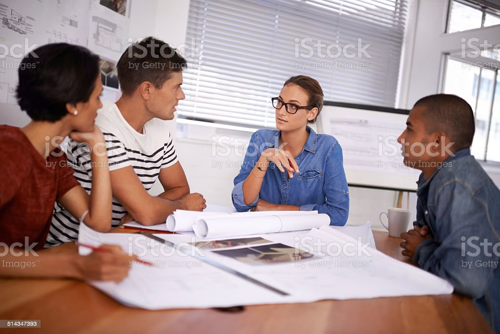 Their diverse group makes for professional results stock photo