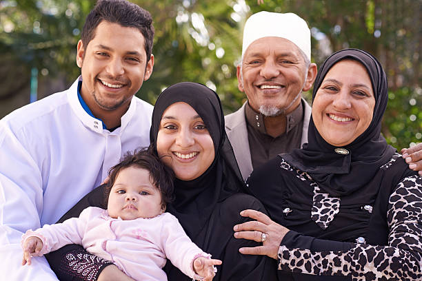 Their family is blessed A muslim family enjoying a day outside arabic style stock pictures, royalty-free photos & images