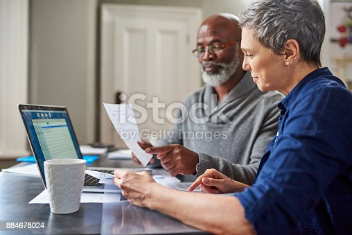istock Their finances are in the green 884678024