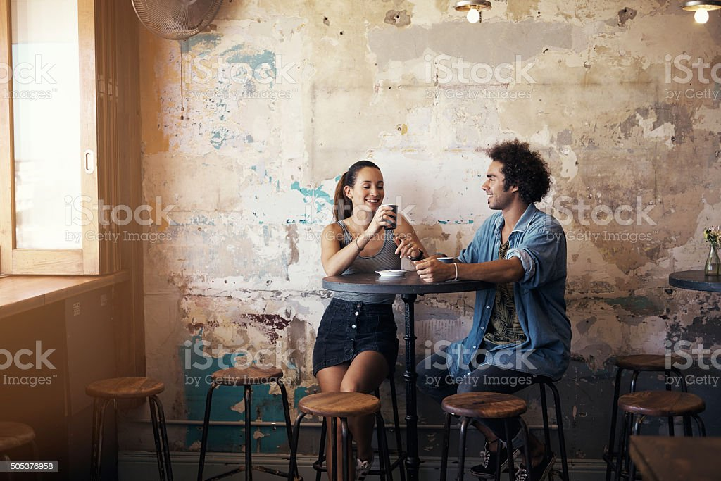 Their first date was so good they kept coming back stock photo