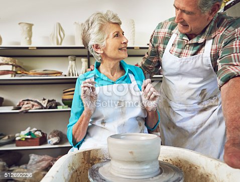 511679304istockphoto Their love of clay brought them closer 512692236