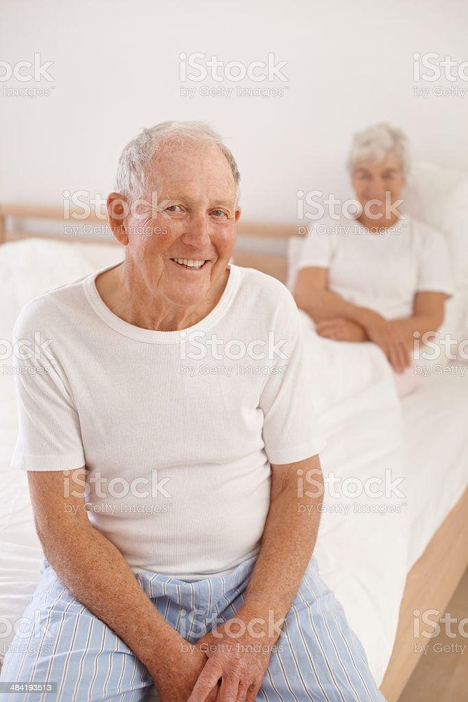 Their marriage has lasted a lifetime stock photo