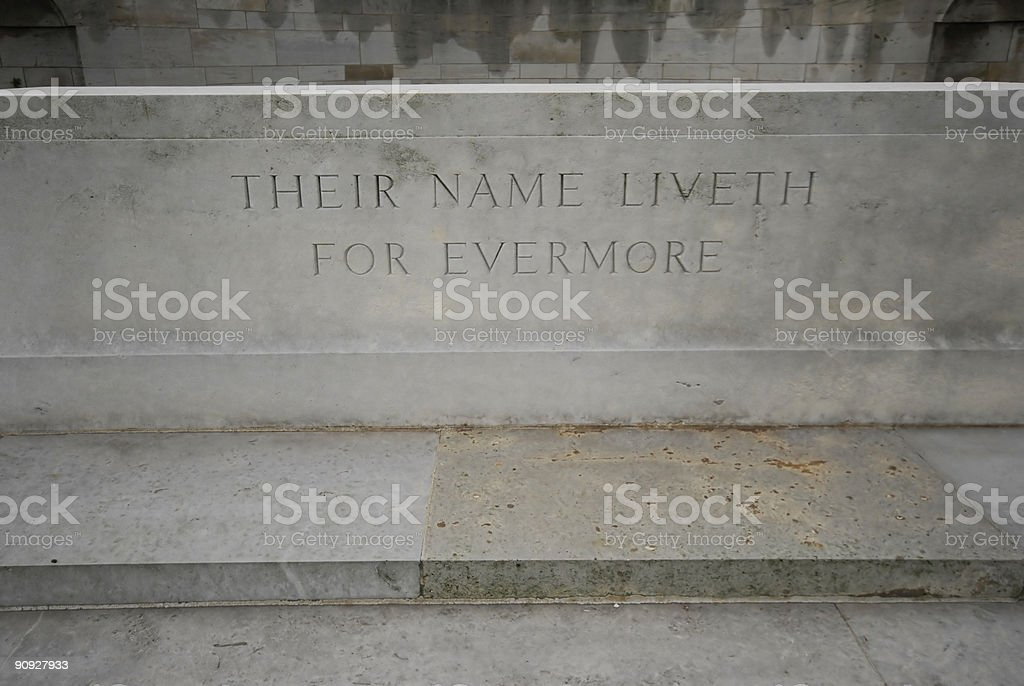 Their Name Liveth For Evermore royalty-free stock photo