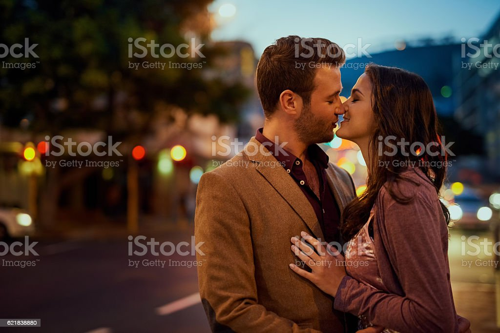 Their relationship is filled with so much spark stock photo
