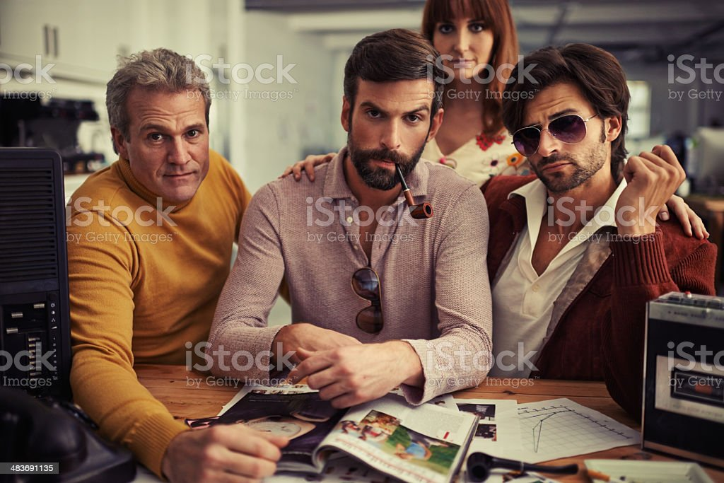 Their skills are far out! stock photo