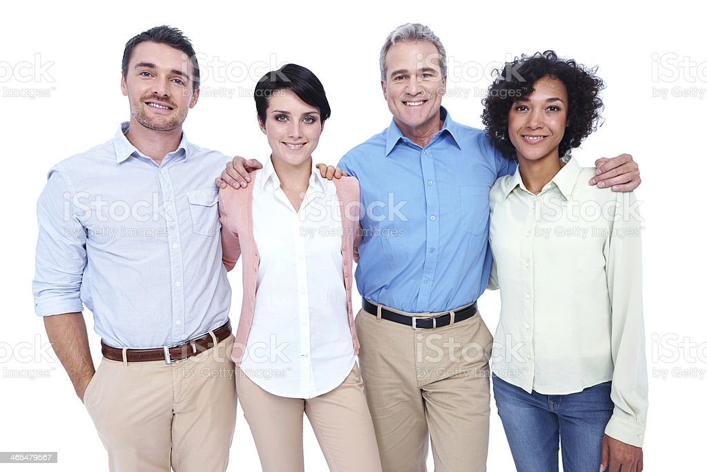 Their success is built on confidence and positivity stock photo
