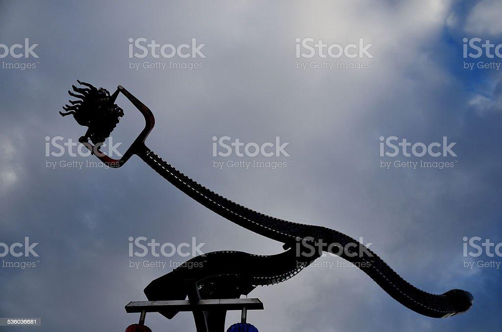 theme park and sky stock photo