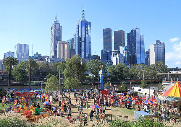 Theme park Melbourne stock photo
