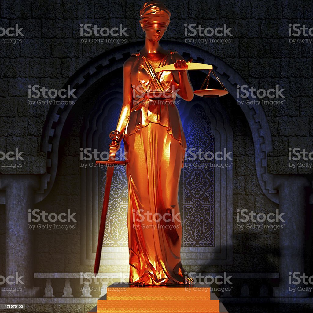Themis in court royalty-free stock photo