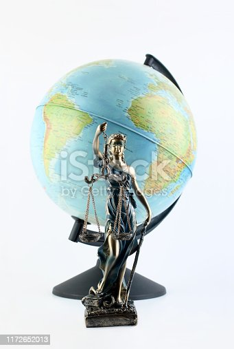 Themis in front of the world