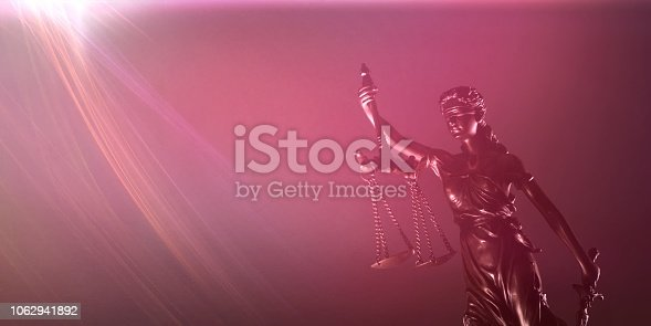 istock Themis with scale and sword - Law concept. 1062941892