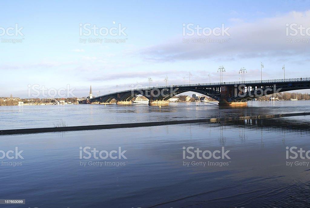 Theodor Heuss bridge Mainz stock photo