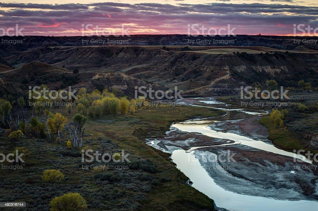 Theodore Roosevelt National Park stock photo