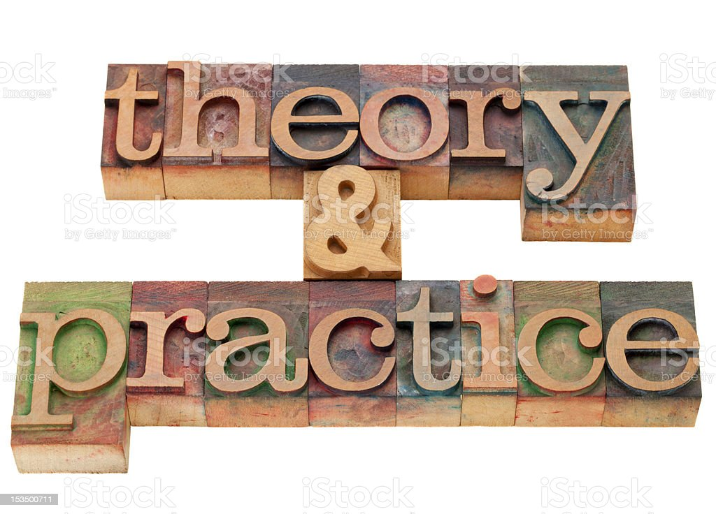 theory and practice royalty-free stock photo