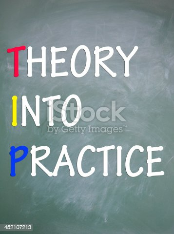 istock theory into practice sign 452107213