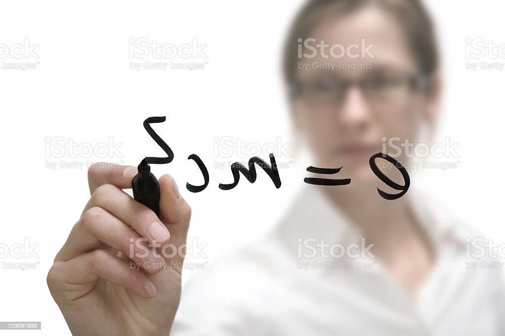 theory of relativity stock photo