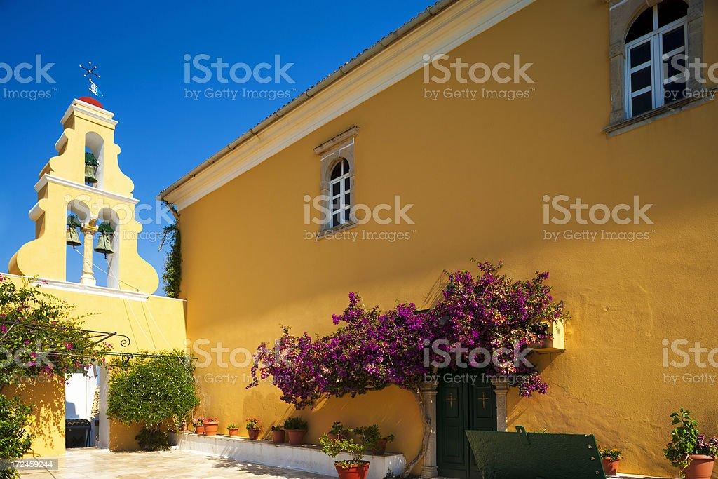 Theotokos Monastery in Paleokastritsa stock photo