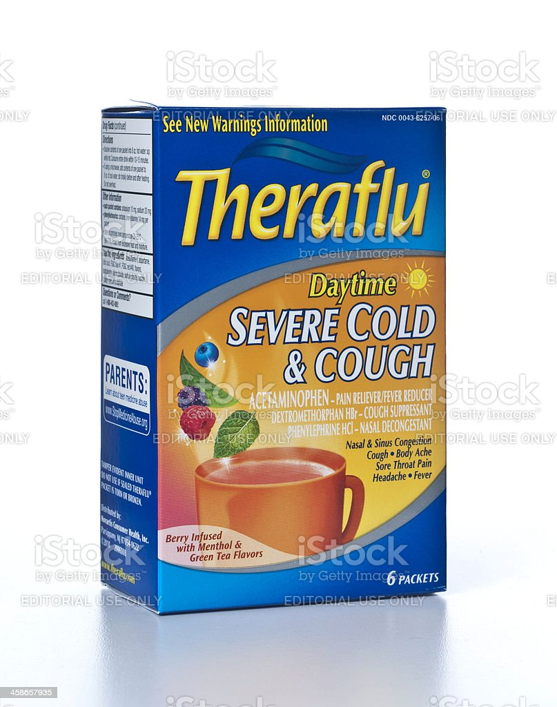Theraflu Daytime Severe Cold And Cough Stock Photo