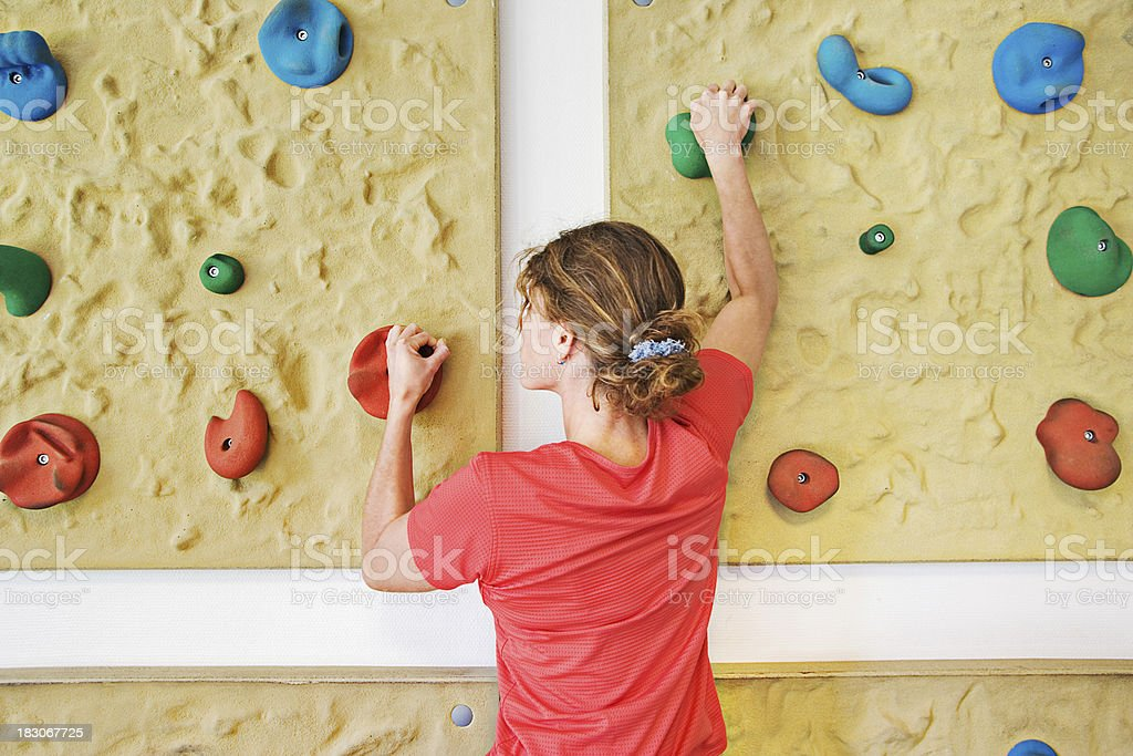 Therapeutical climbing royalty-free stock photo