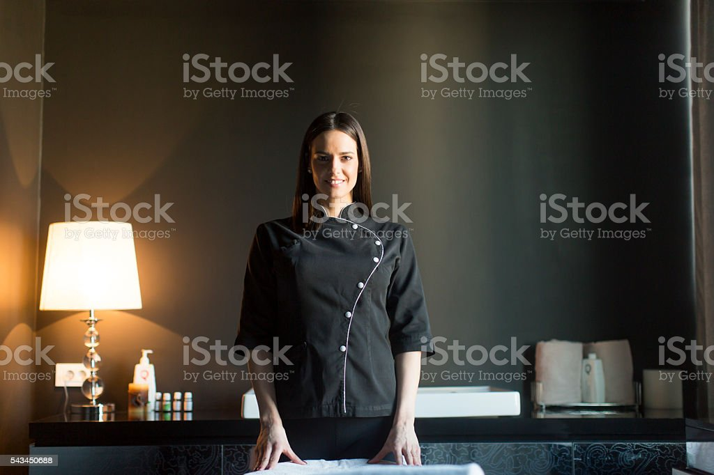 Therapist in the room stock photo