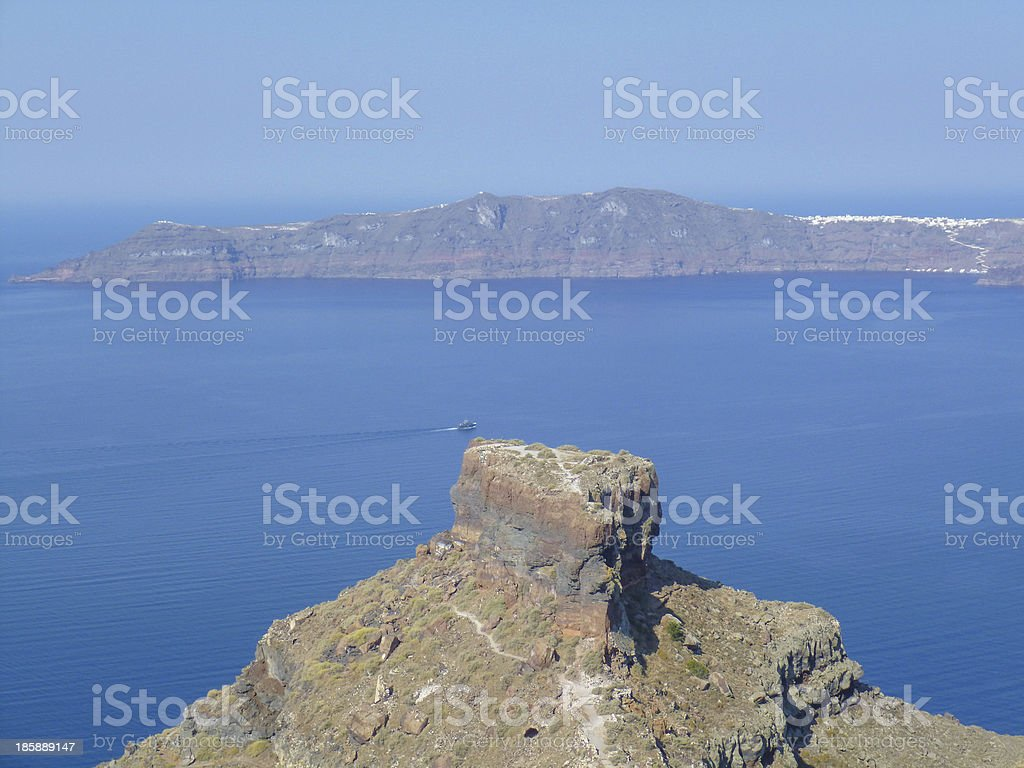 Therasia in Greece royalty-free stock photo