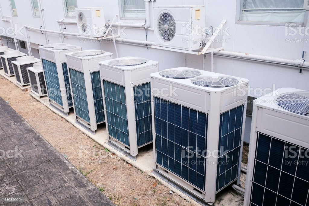 There are many type of condensing unit stock photo