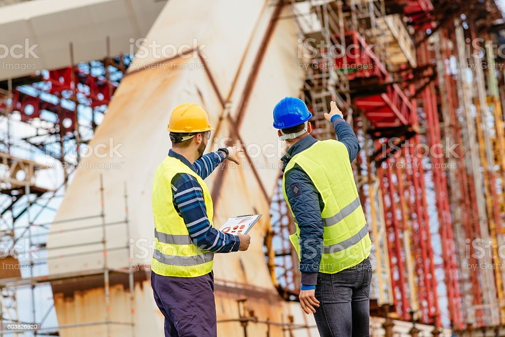 There are some problems with this construction stock photo