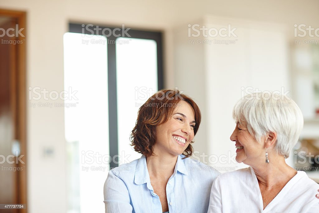 There for each other through thick and thin stock photo