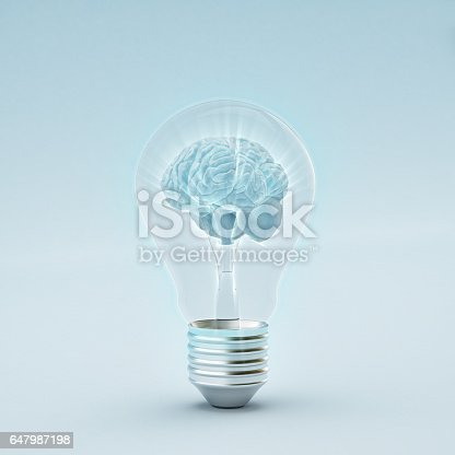 istock There is a brain inside the bulb, whilst having a glowing effect 647987198