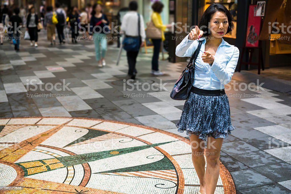 There is Gaming Hideout on street in Kyoto, Japan stock photo