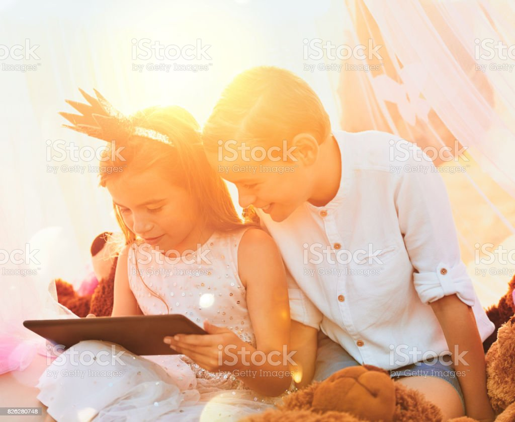 There is no better company than that of a sibling stock photo