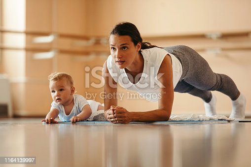istock There is no excuse for her to get back in shape! 1164139997