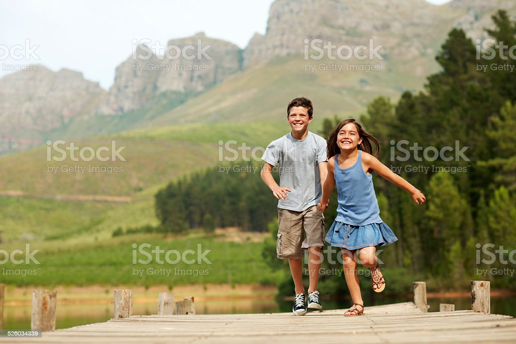 There is no land like the land of your childhood stock photo