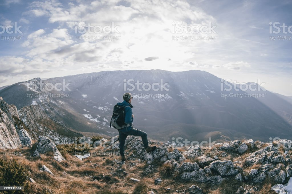 There is no mountain top i havent conquired yet stock photo