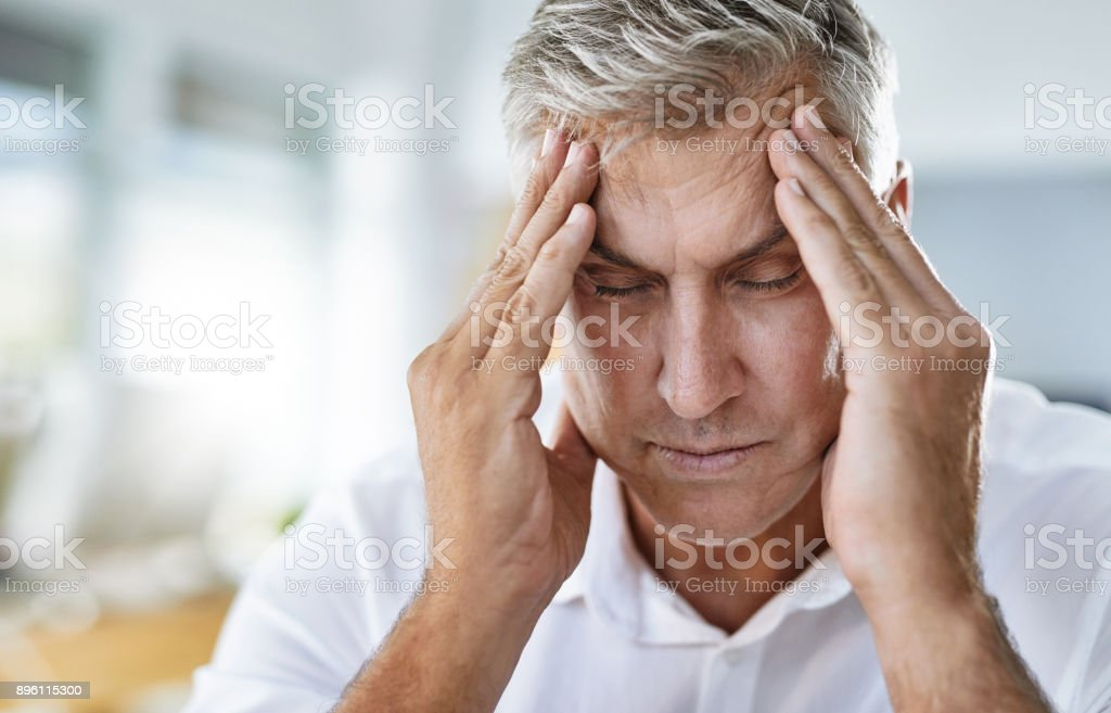 There is no way I can work with this headache stock photo
