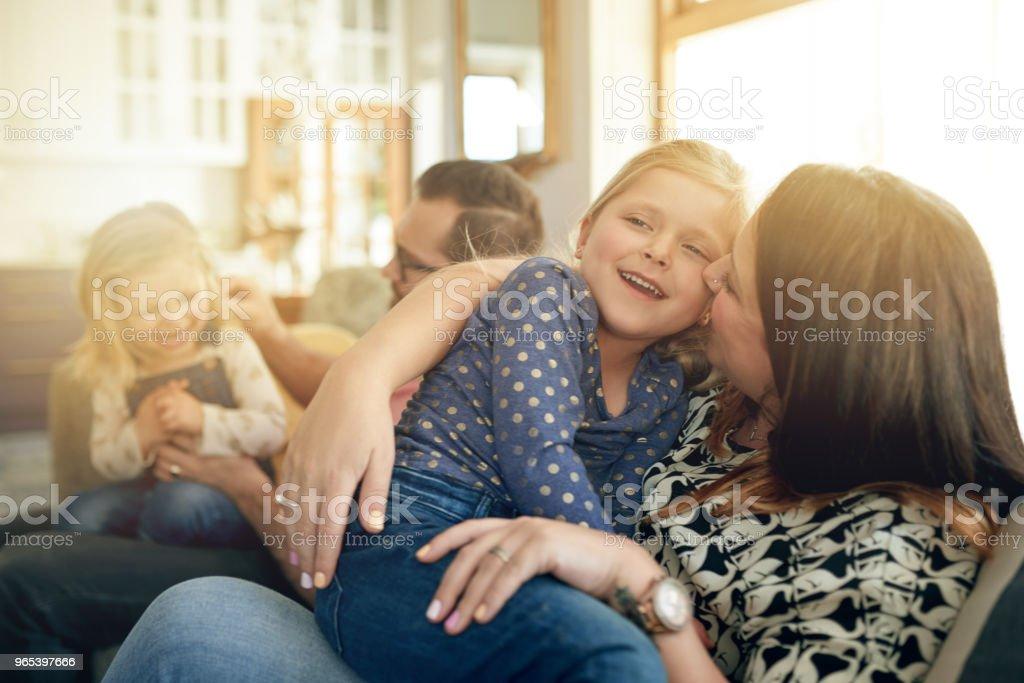 There is no word more beautiful than family - Zbiór zdjęć royalty-free (Beztroski)