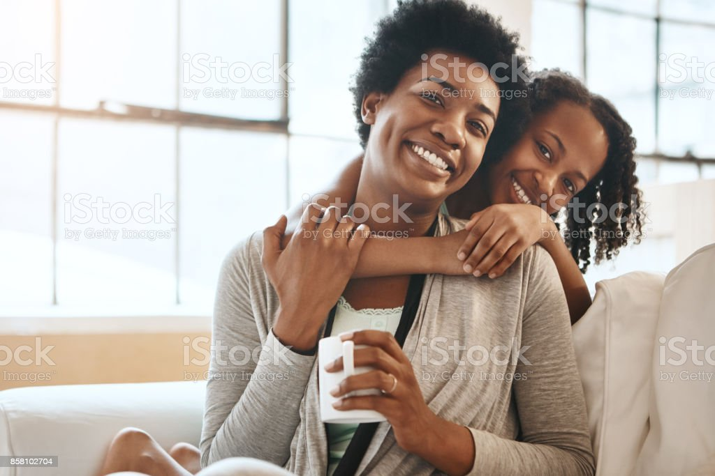 There is nothing greater than the mother daughter relationship stock photo