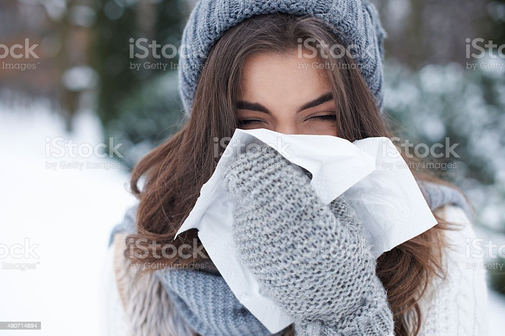 There is nothing worse than winter illness stock photo