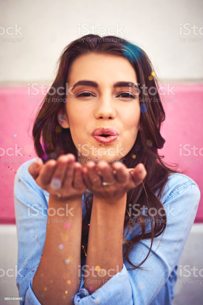 There is nothing wrong with celebrating everyday royalty-free stock photo