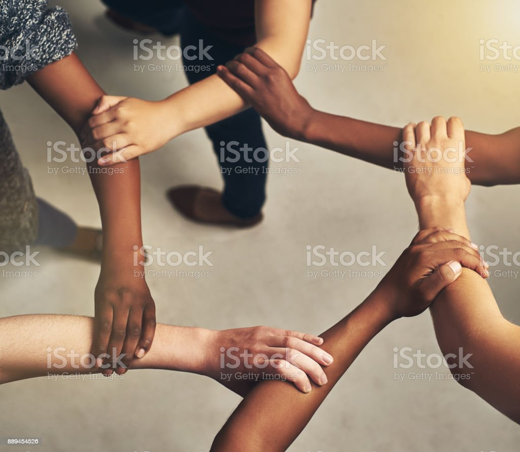 There is strength in unity stock photo