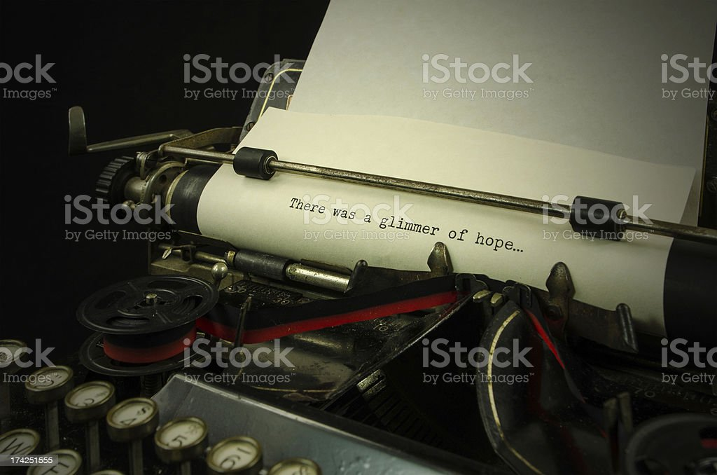 There Was a Glimmer of Hope stock photo