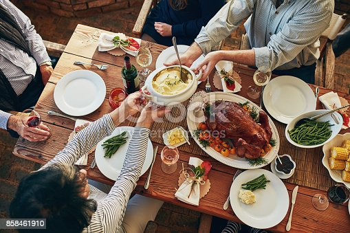 istock There won't be any leftovers at this table! 858461910
