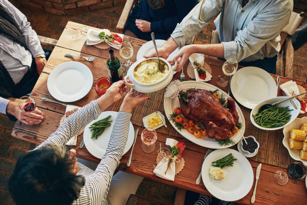 There won't be any leftovers at this table! - foto stock