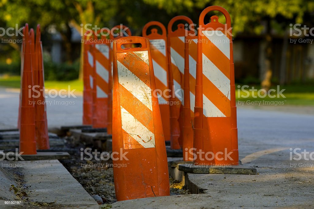 There's a Hole in My Street stock photo