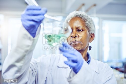 Shot of a mature scientist working in a lab