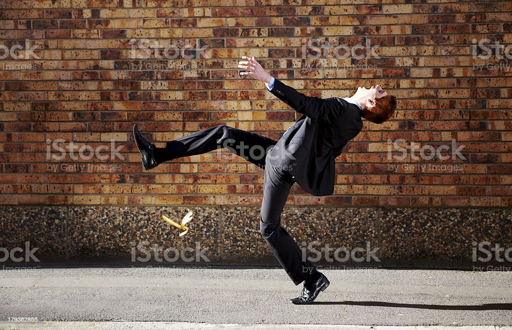 There's a potential banana skin in every business venture stock photo