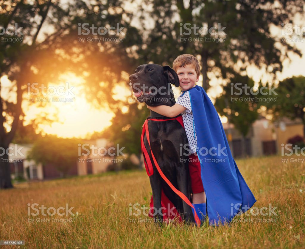 There's a superhero in all of us stock photo