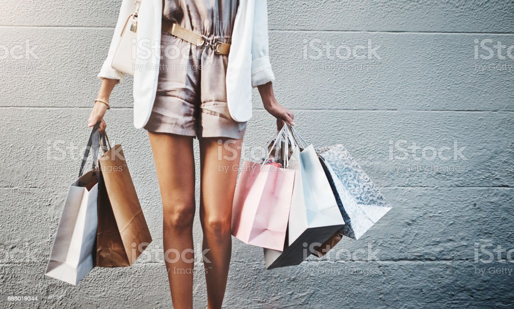 There's always more shopping to do stock photo