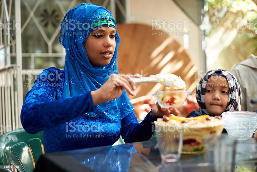 There's always room for dessert stock photo